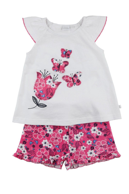 Girls short summer Pyjama with Butterflies
