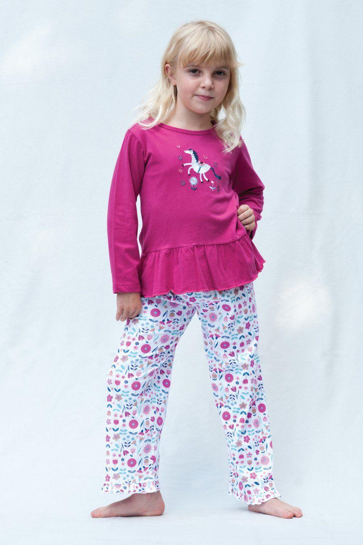 Girls Unicorn Cotton Pyjamas