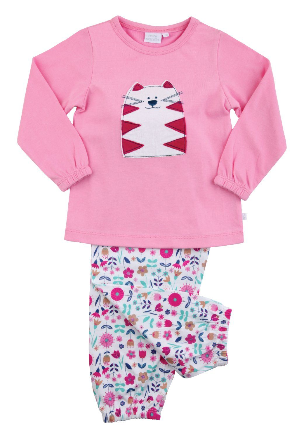 Girls Cat Cotton Pyjamas