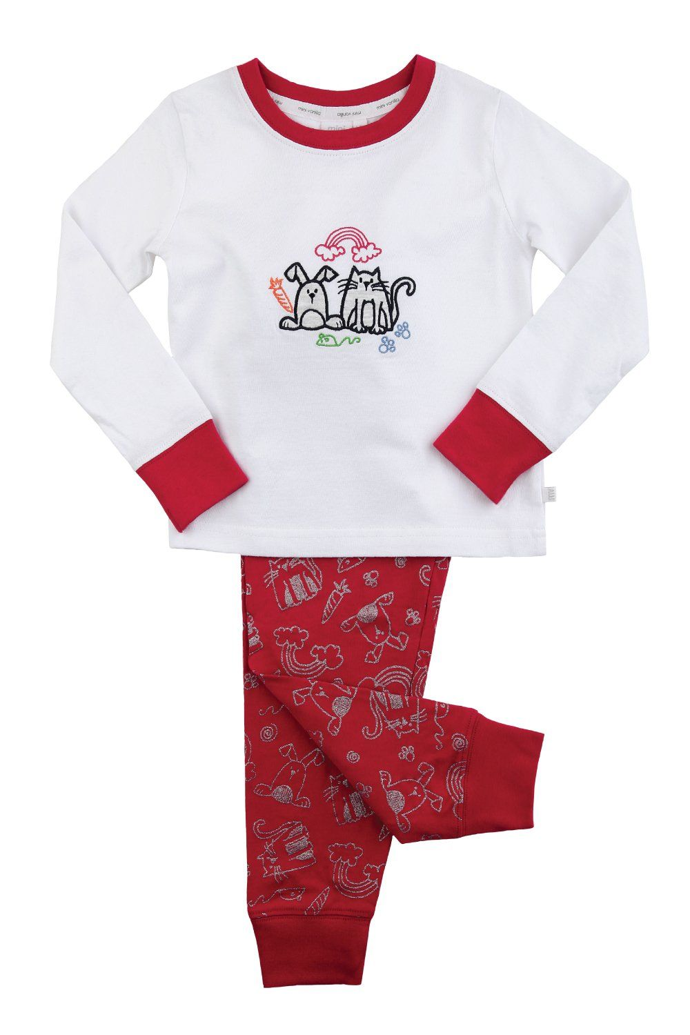 Girls Glitter Pet Print Pyjamas