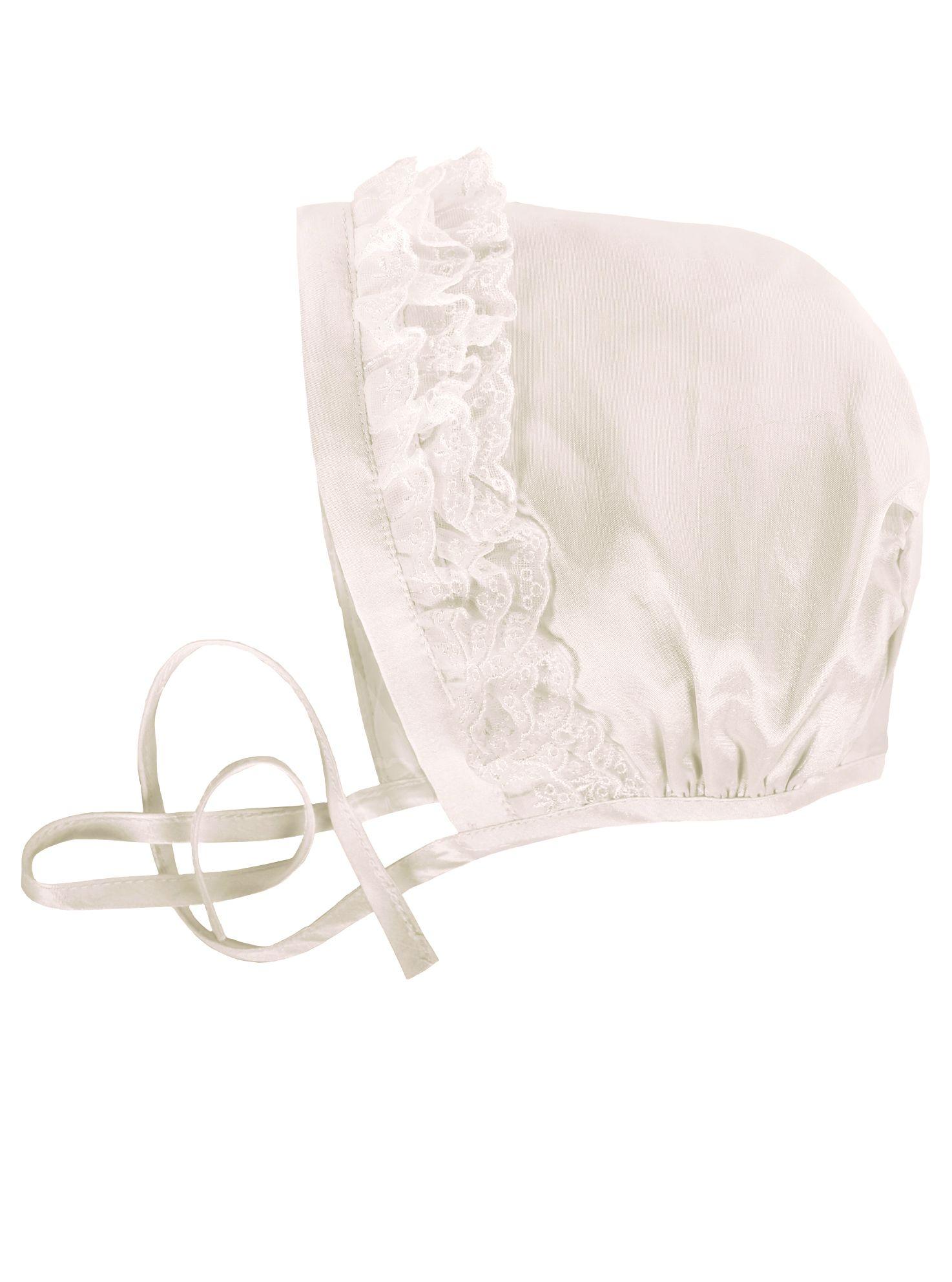 Baby  Ivory Christening Bonnet