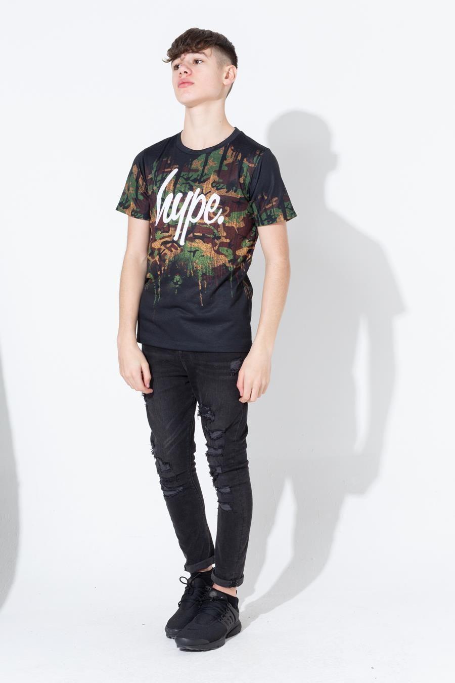 Hype Army Camo Drips Kids T-Shirt