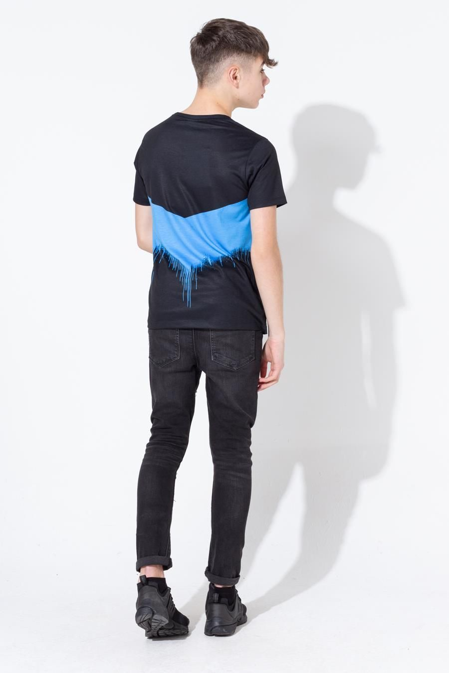 Hype Blue Chevron Drips Kids T-Shirt