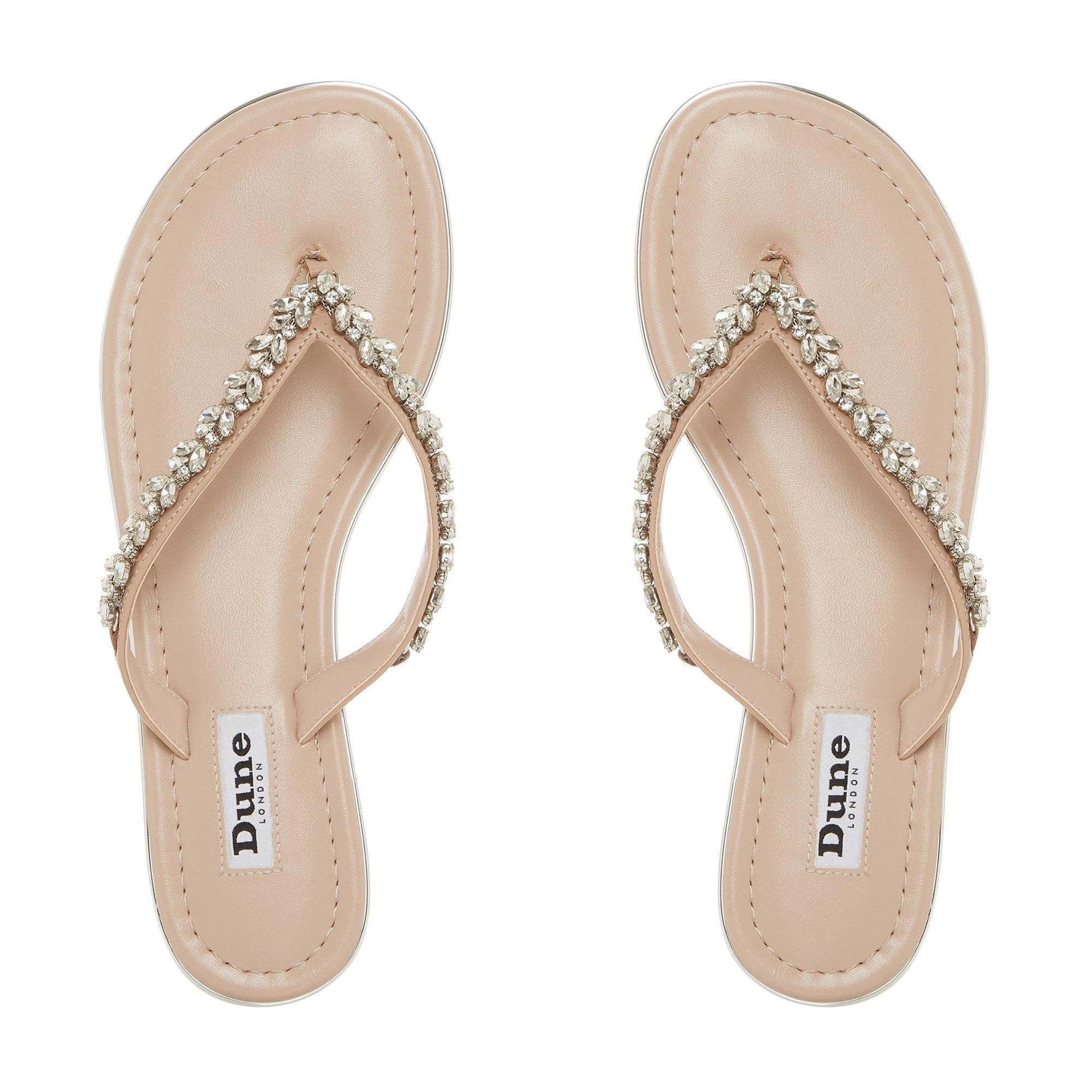 Dune Ladies NEWBEY Diamante Toe-Post Sandal