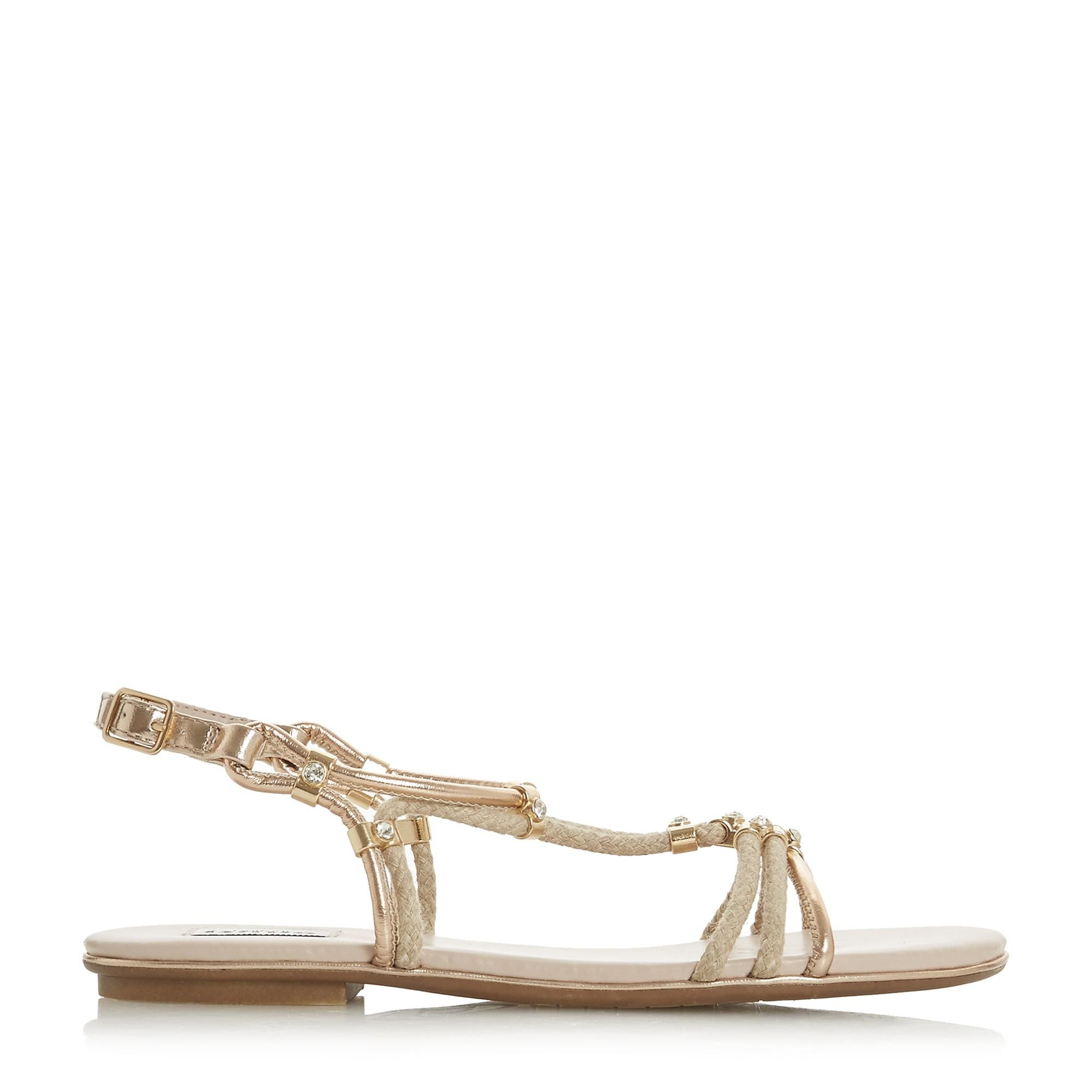 Dune Ladies NOVAA Braided Diamante Flat Sandals