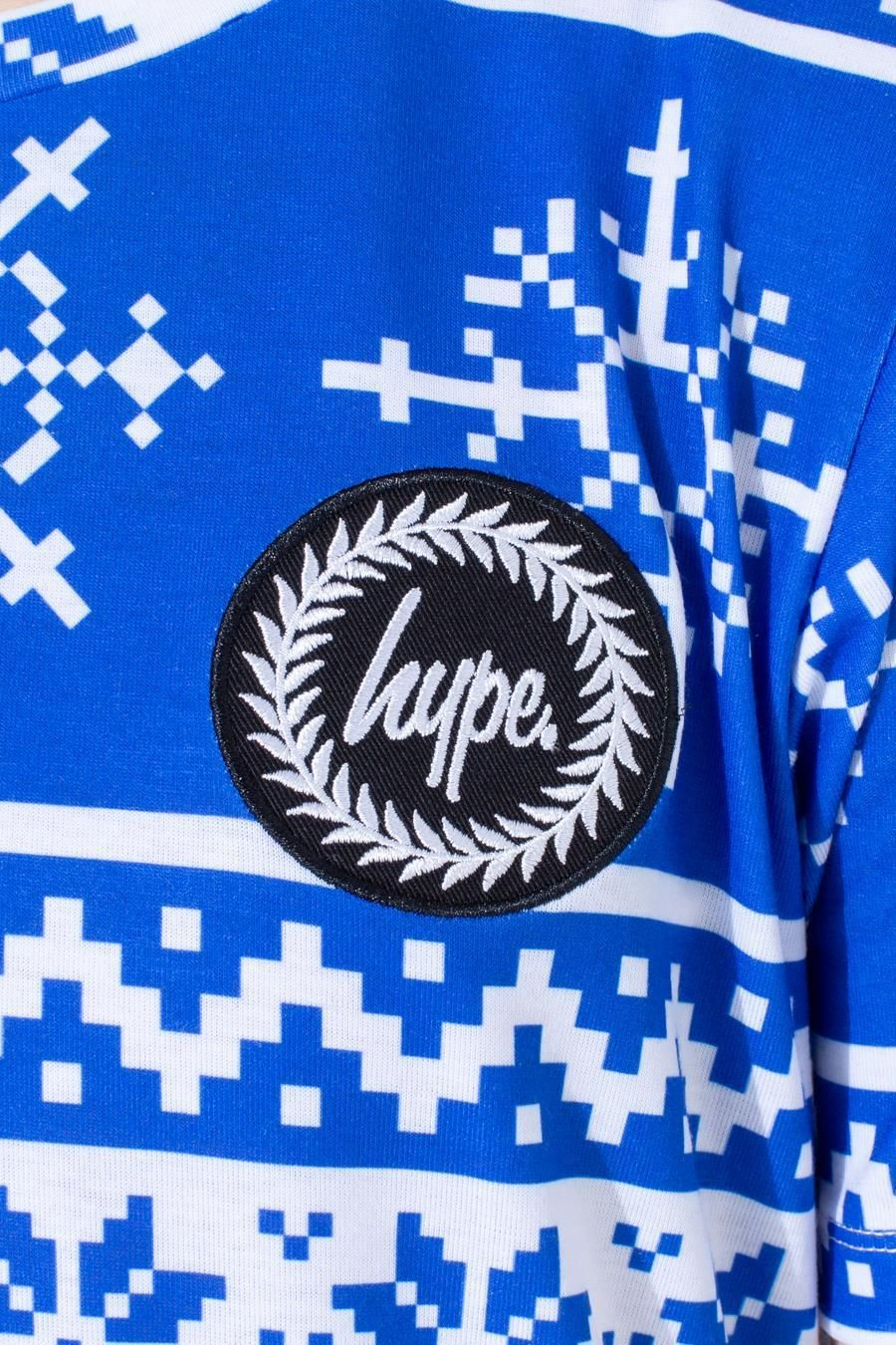 Hype Blue Fairisle Kids T-Shirt