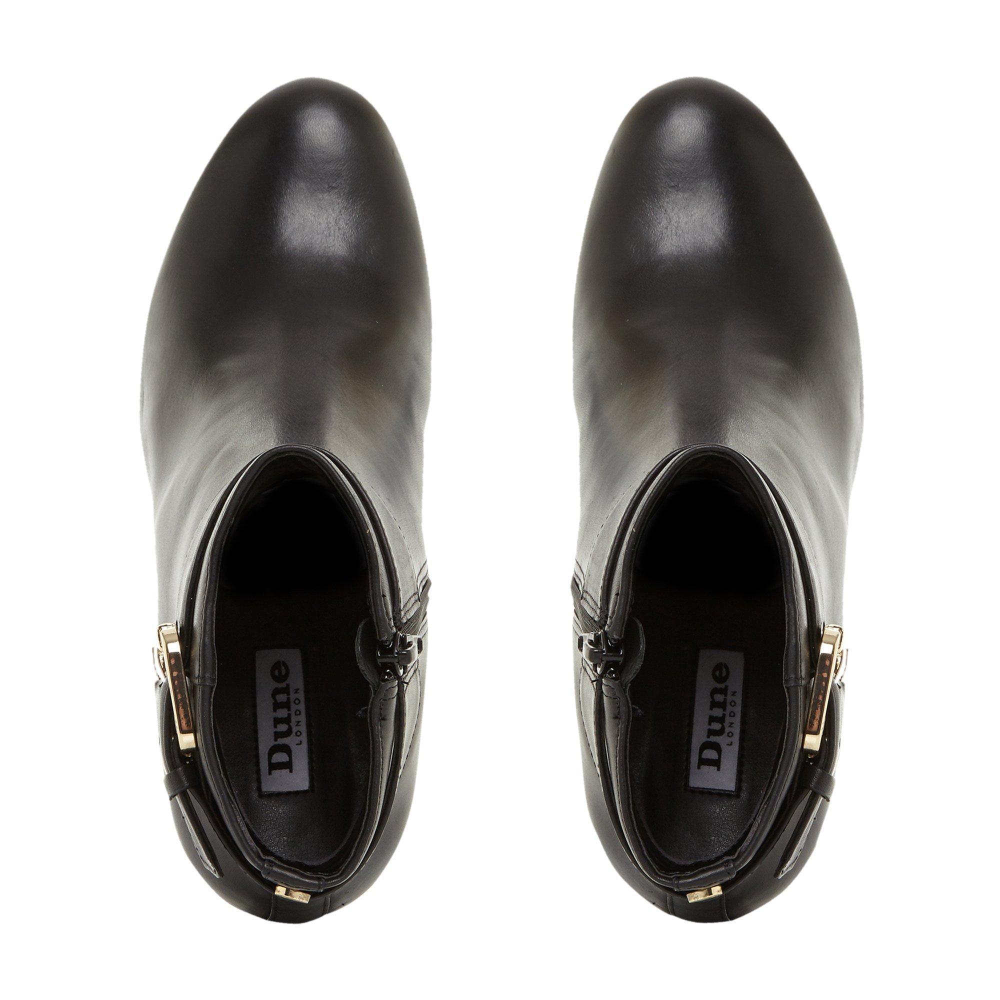 Dune Ladies OCTOBA Croc-Effect Block Heel Ankle Boots