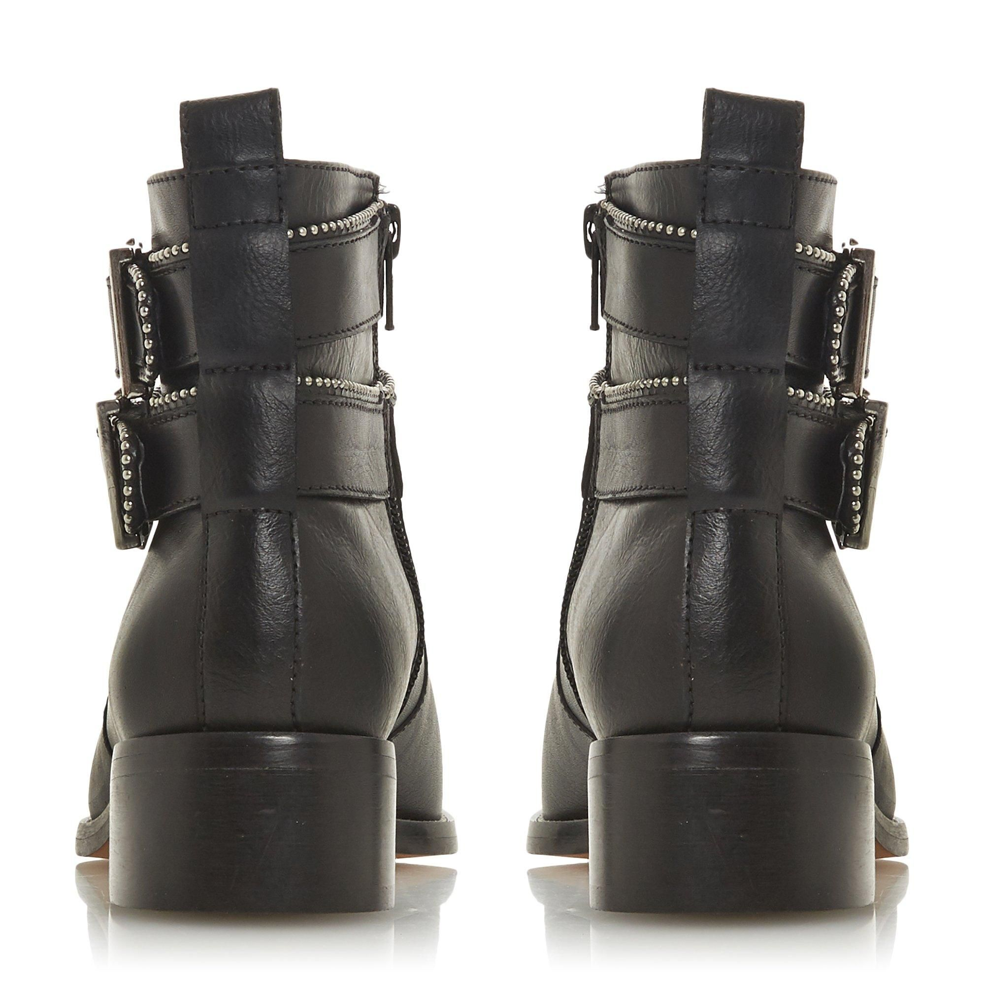 Dune Ladies PABBLO Double Buckle Ankle Boots