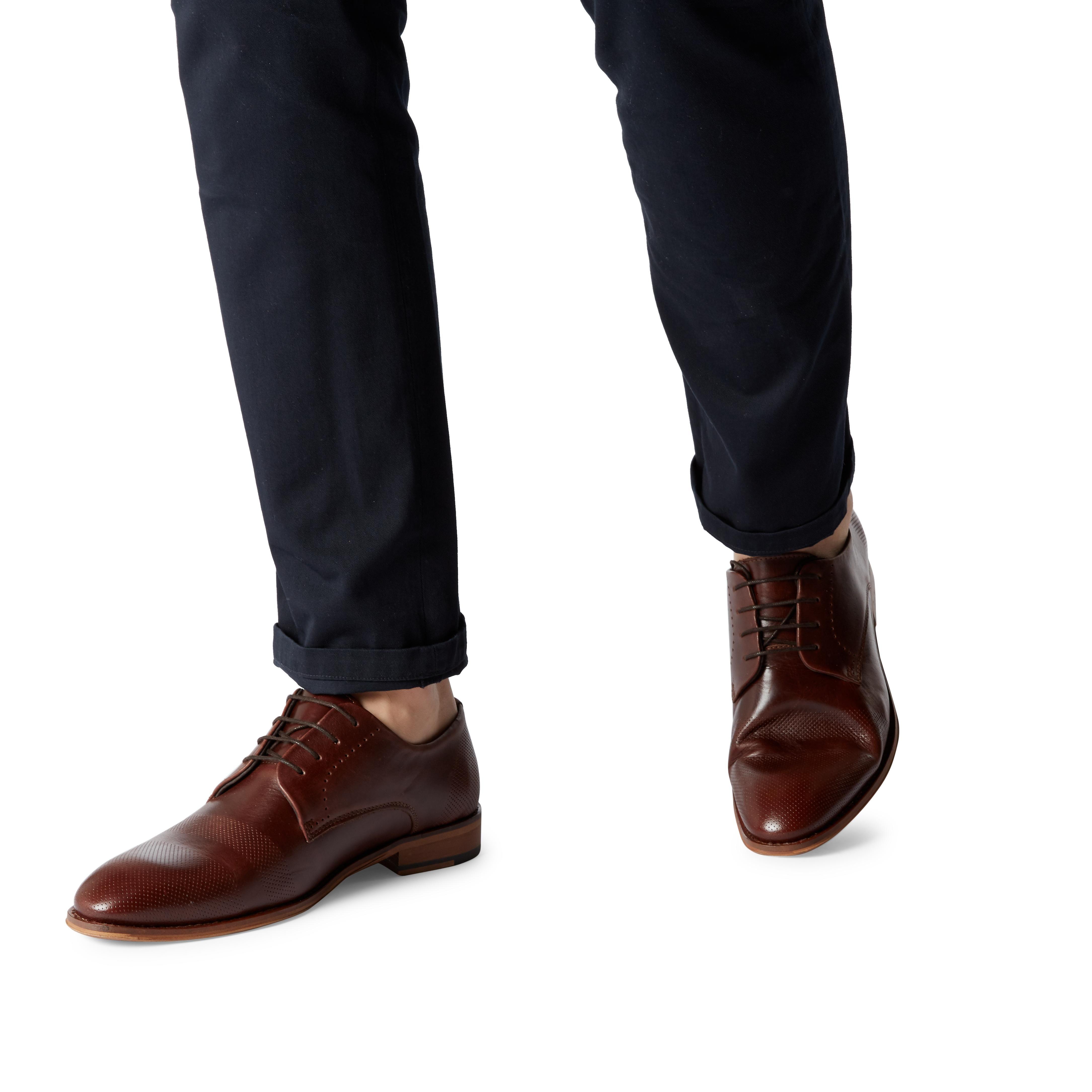 Bertie Mens PACEY Embossed Vamp Gibson Shoes