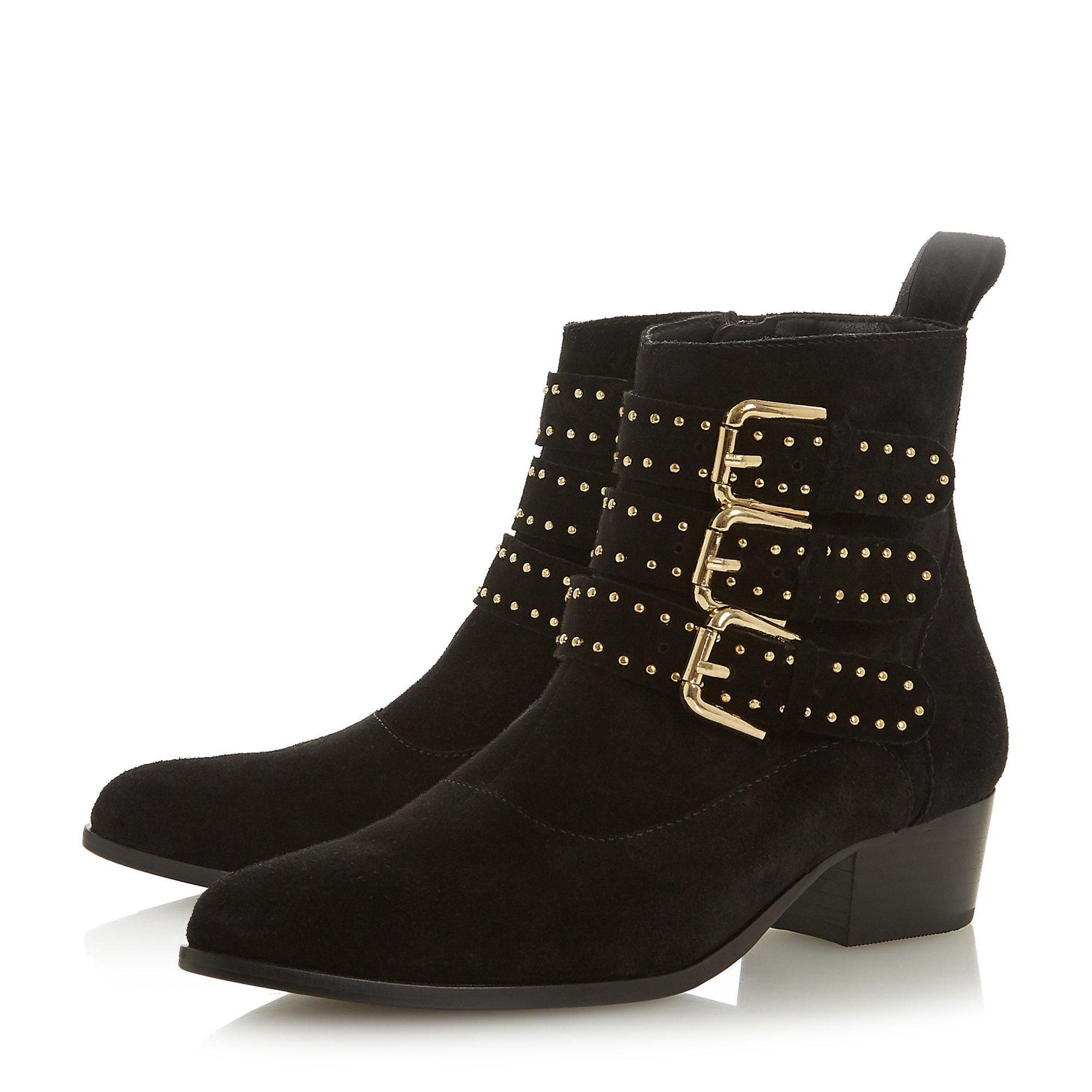 Dune Ladies PAGENT Buckle Detail Ankle Boots