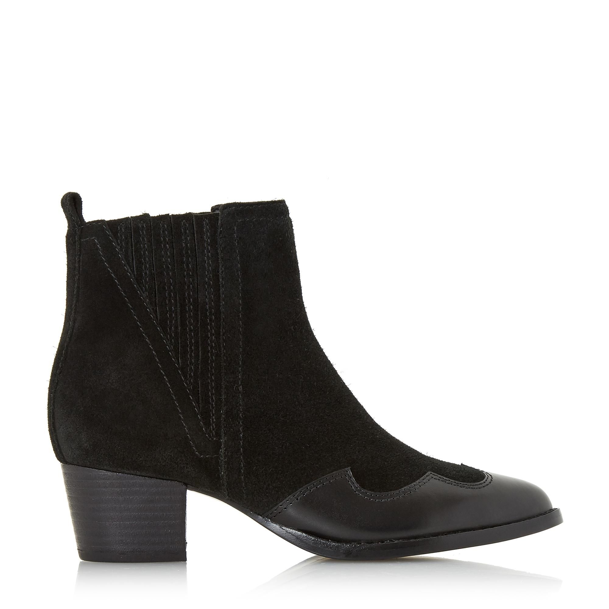 Dune Ladies PAPIO Western Cowboy Ankle Boots