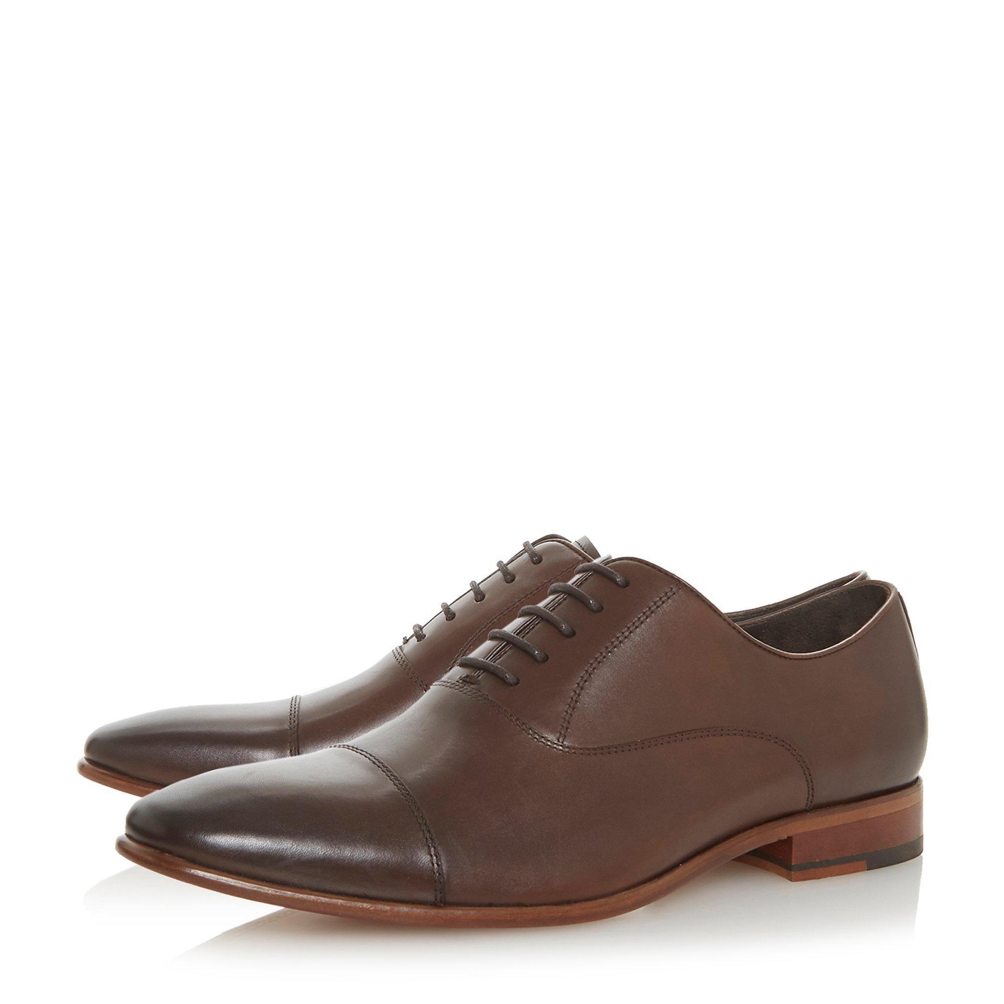 Dune Mens PONTUS Leather Smart Oxford Shoes