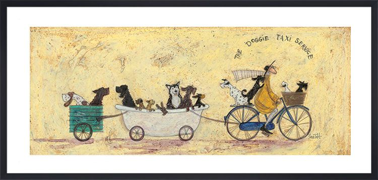 The Doggie Taxi Service by Sam Toft