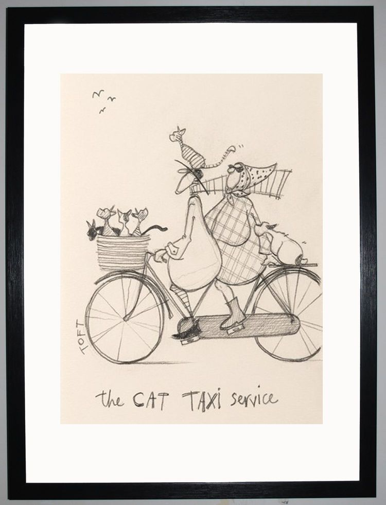 The Cat Taxi Service Sketch by Sam Toft