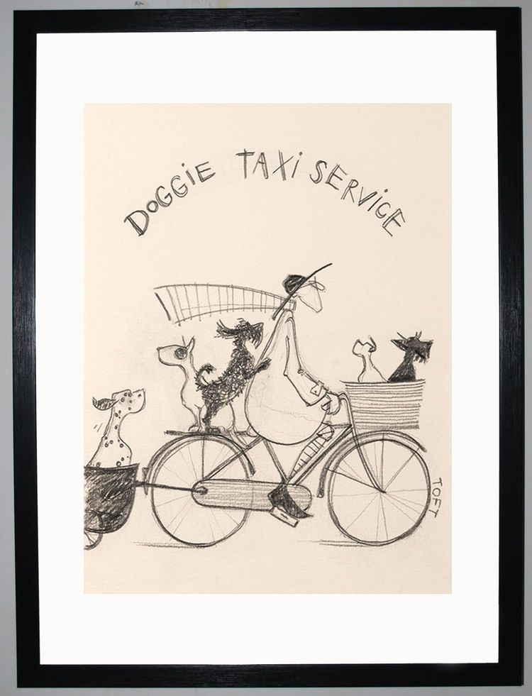Doggie Taxi Service Sketch by Sam Toft