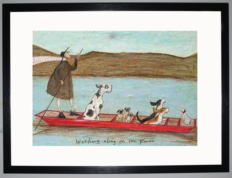 Woofing along on the River by Sam Toft