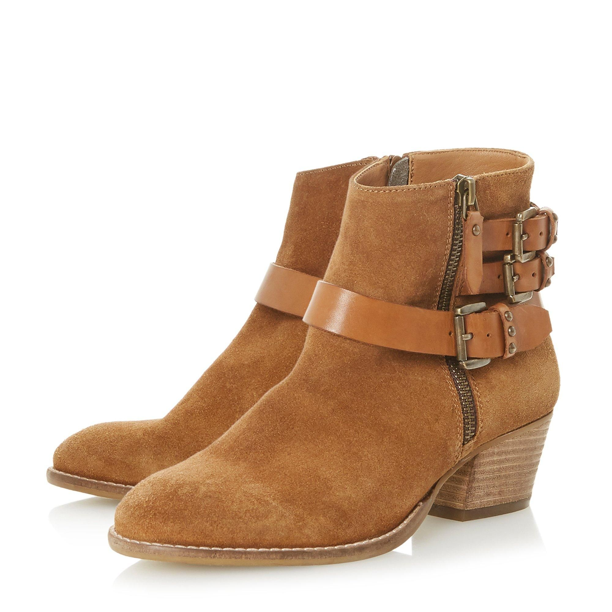 Dune Ladies PRIMER Buckle Strap Ankle Boots