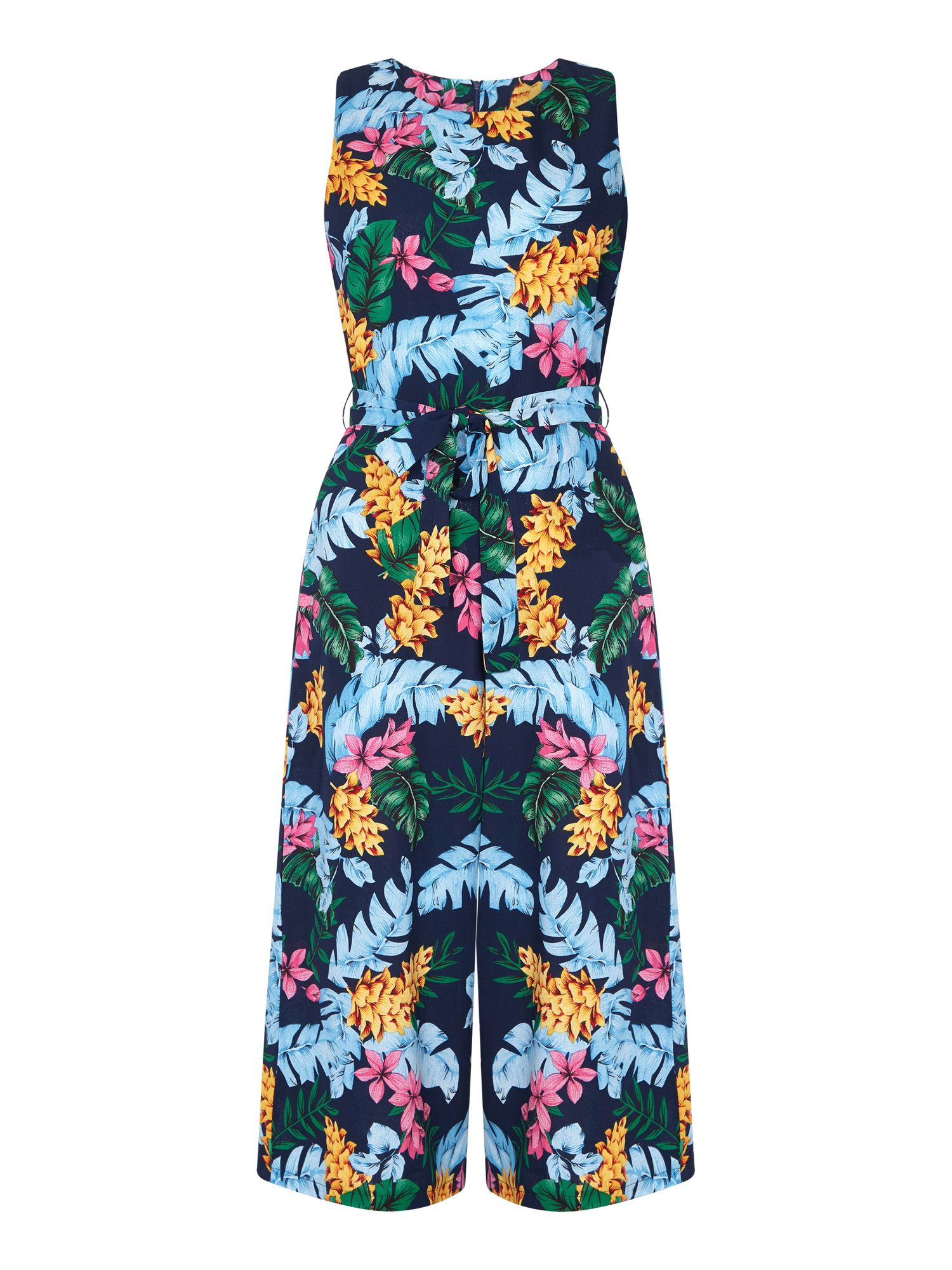 Bright Tropical Culotte Jumpsuit