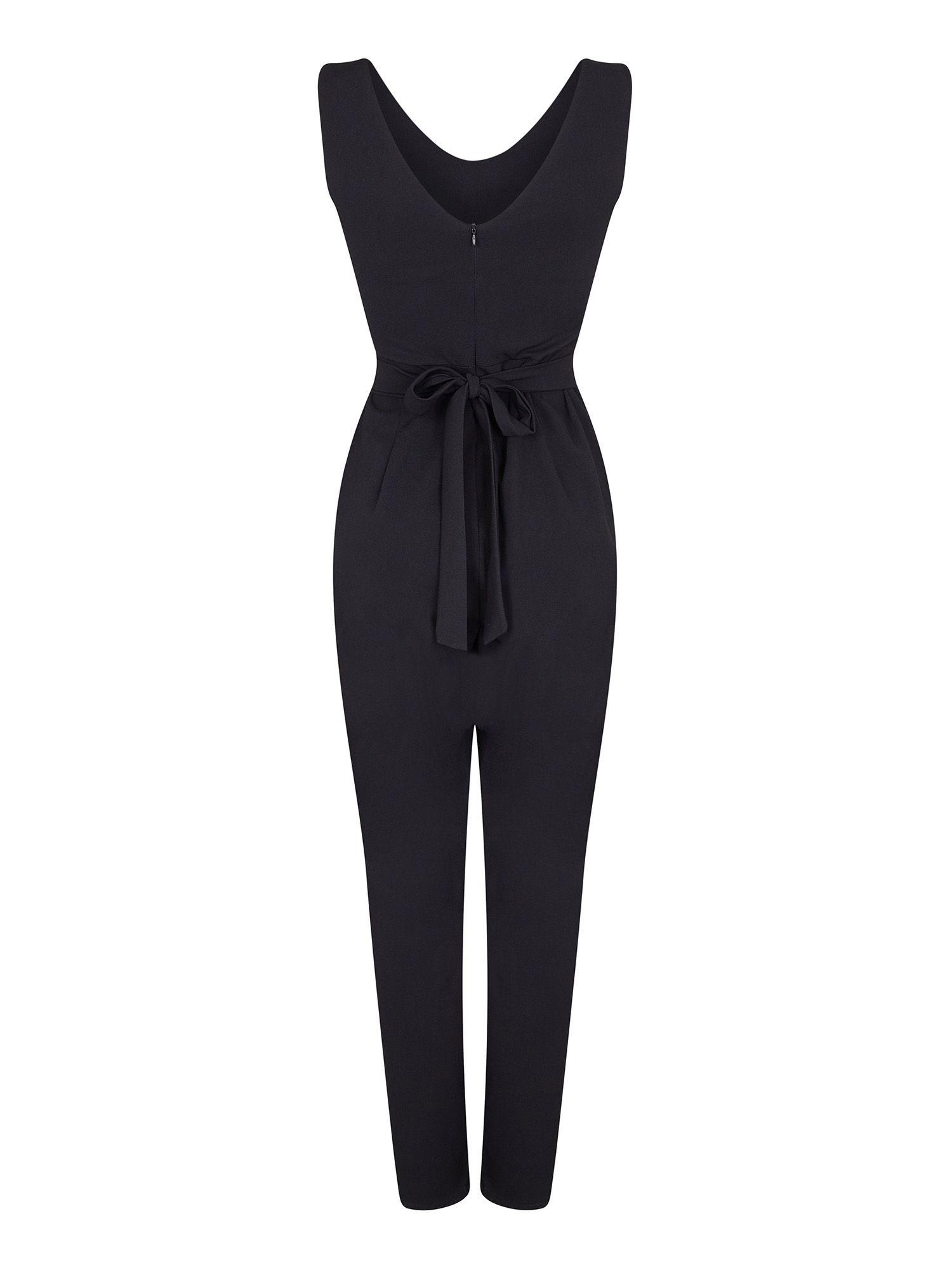 Mesh Detail Sleeveless Jumpsuit
