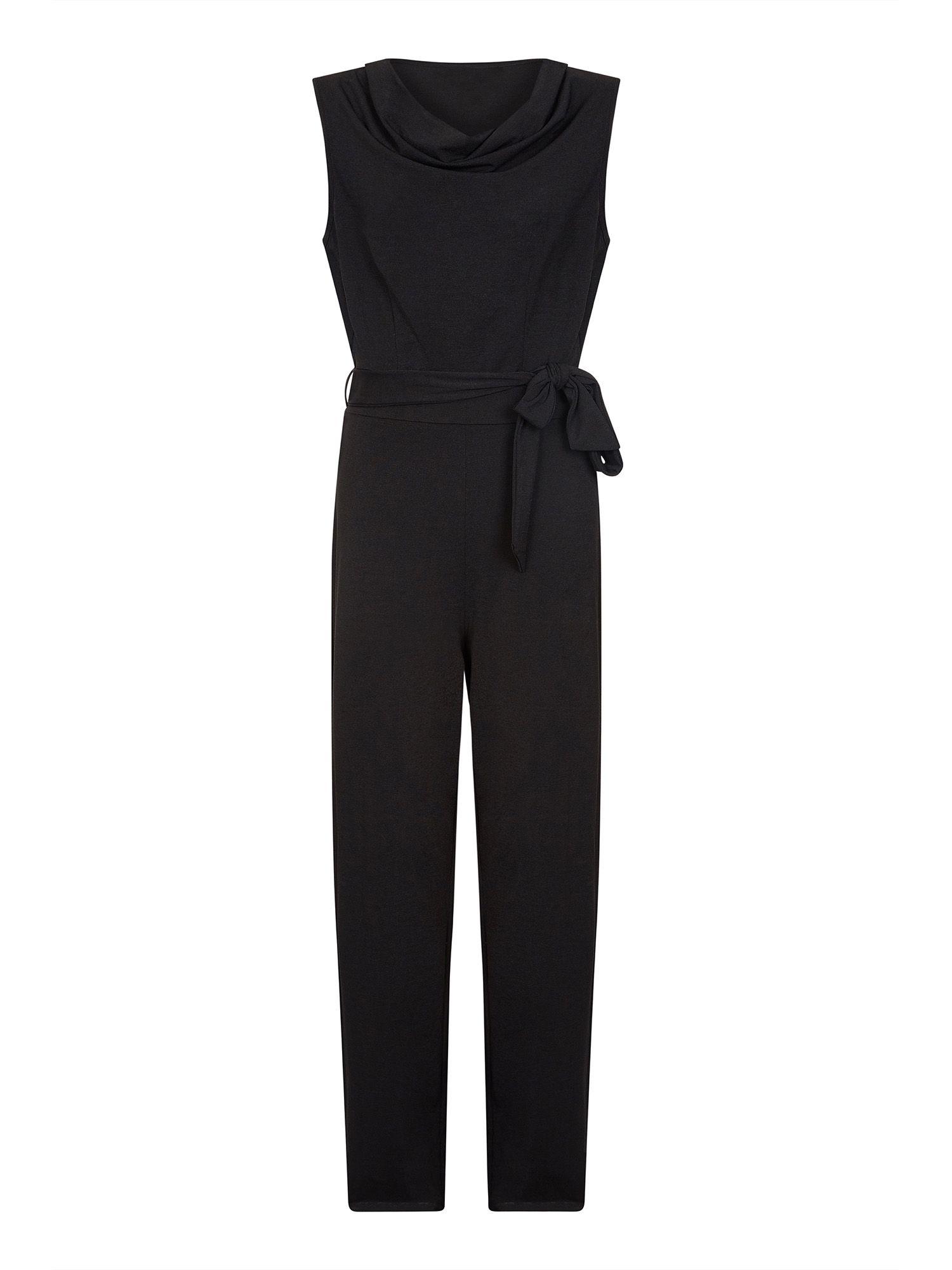 Cowl Neck Sleeveless Jumpsuit