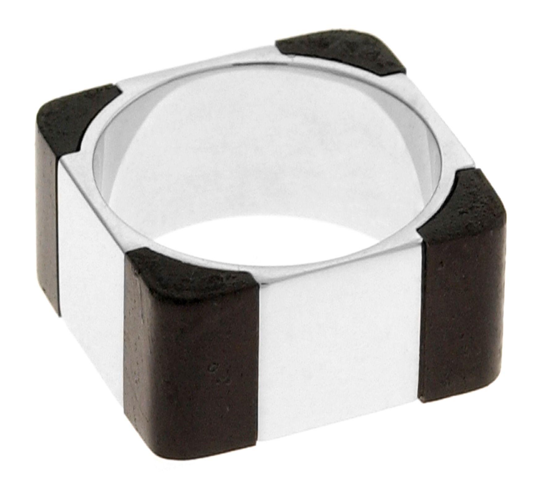 Silver  Ebony  Brown  Sq L=19mm Ebony