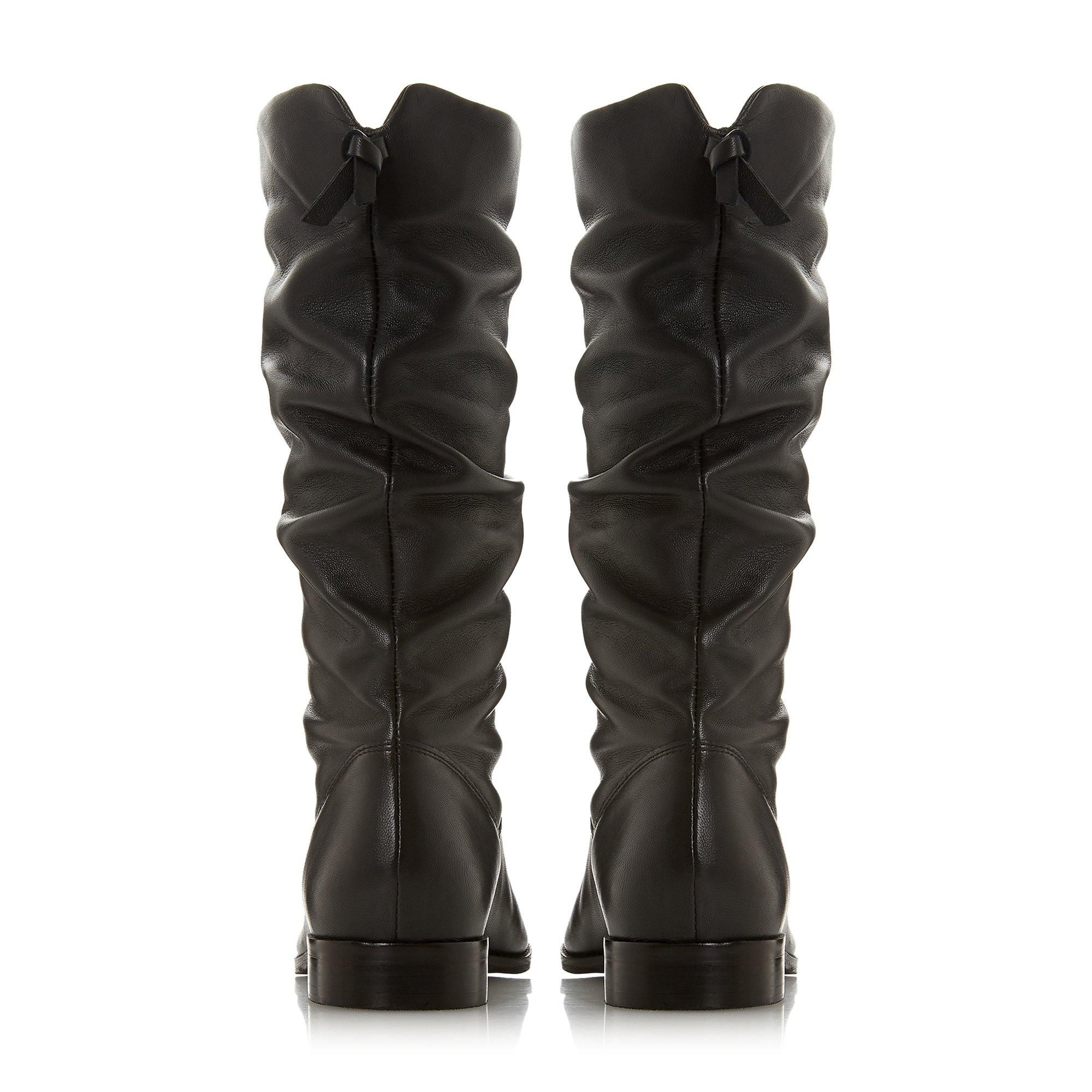 Dune Ladies ROSALINDD Pull On Ruched Calf Boots