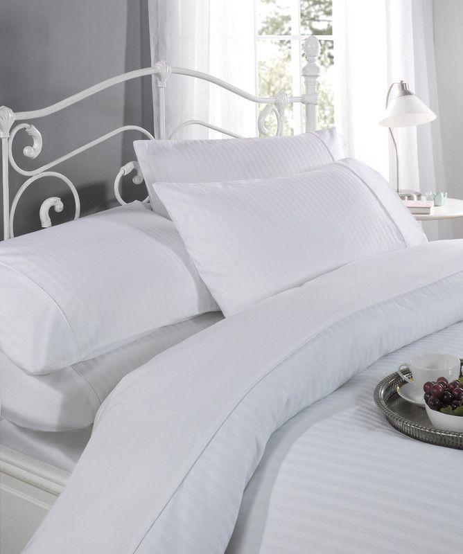 100% Cotton 300 TC Single Regency White Duvet Set