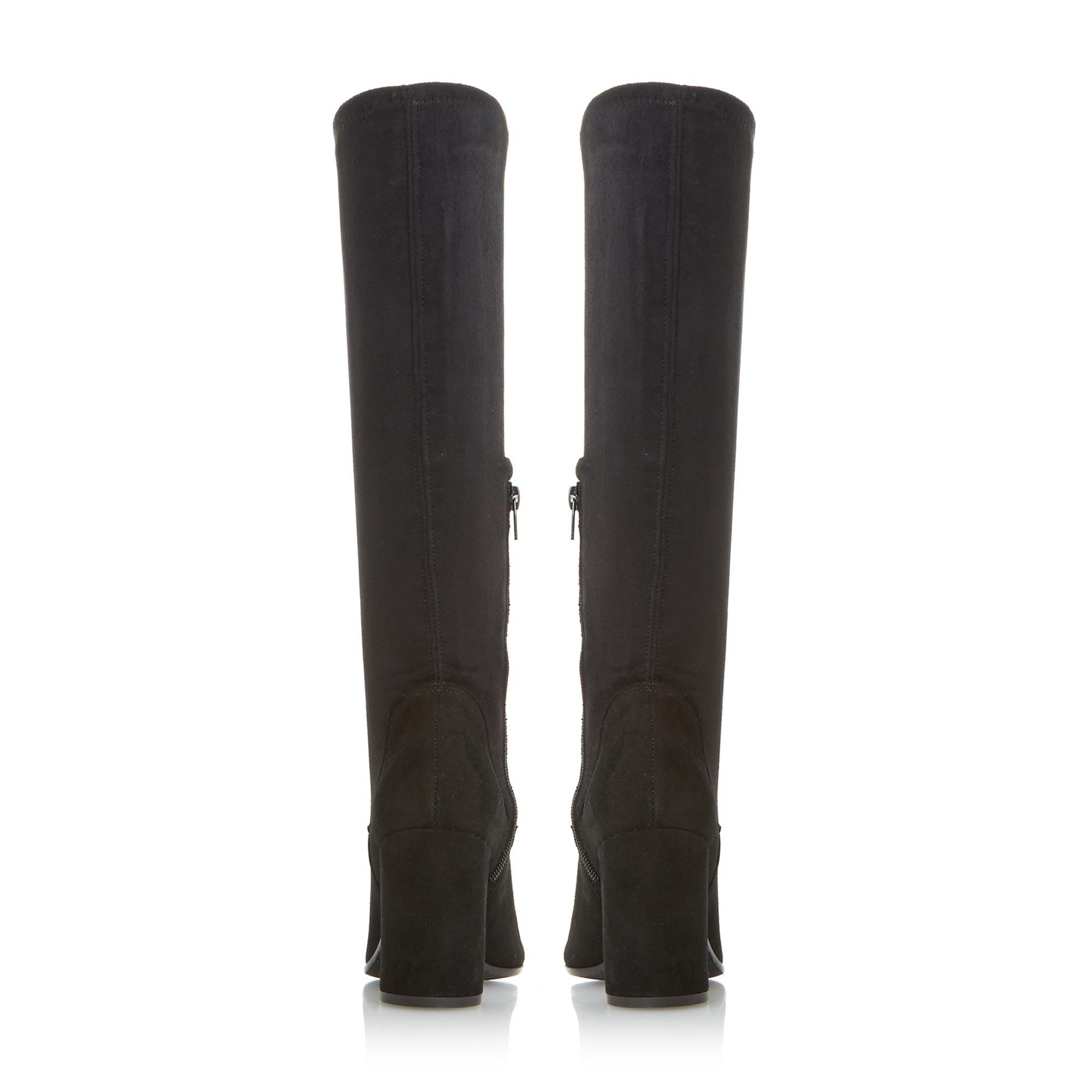 Dune Ladies SEREIN Knee High Heeled Stretchy Boots