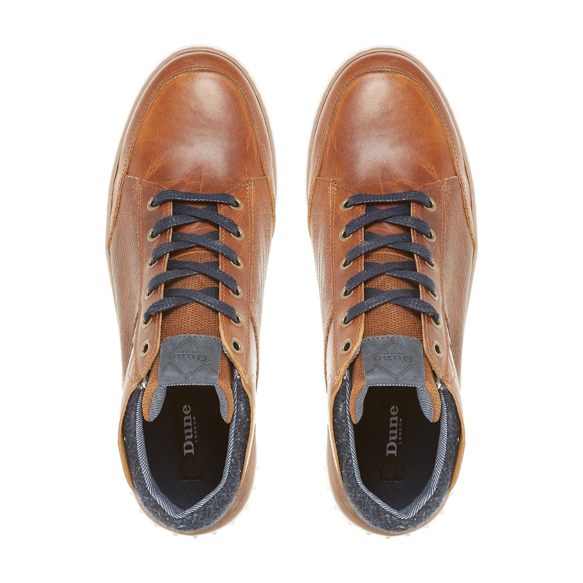 Dune Mens SMASHING Contrast Collar Cupsole Trainers