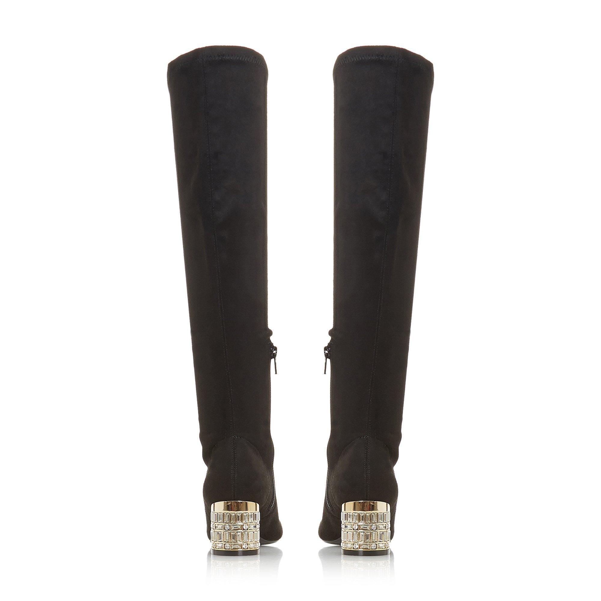 Dune Ladies STARRIE Jewel Embellished Knee High Boots