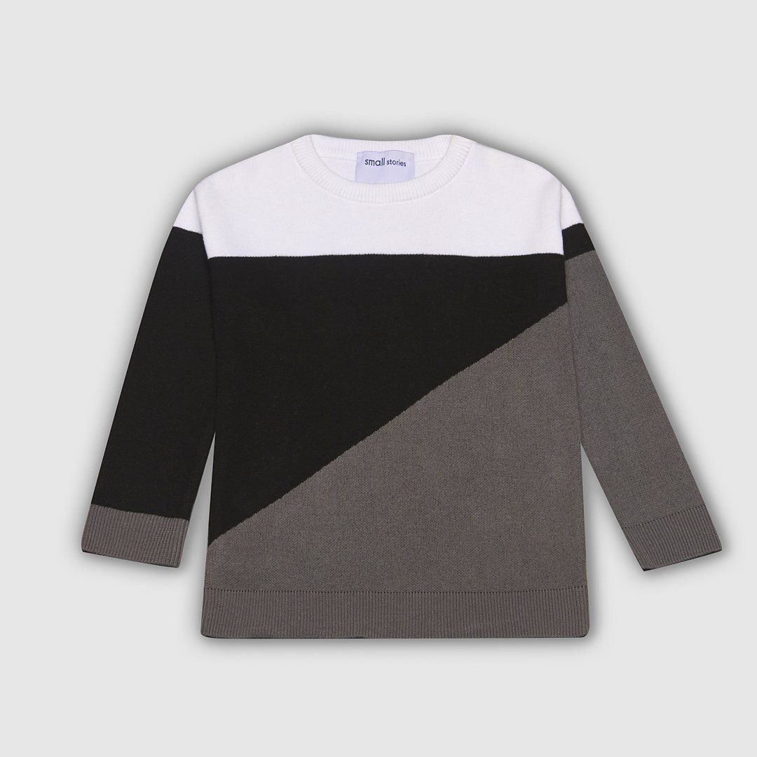 Panel Knitted Sweater
