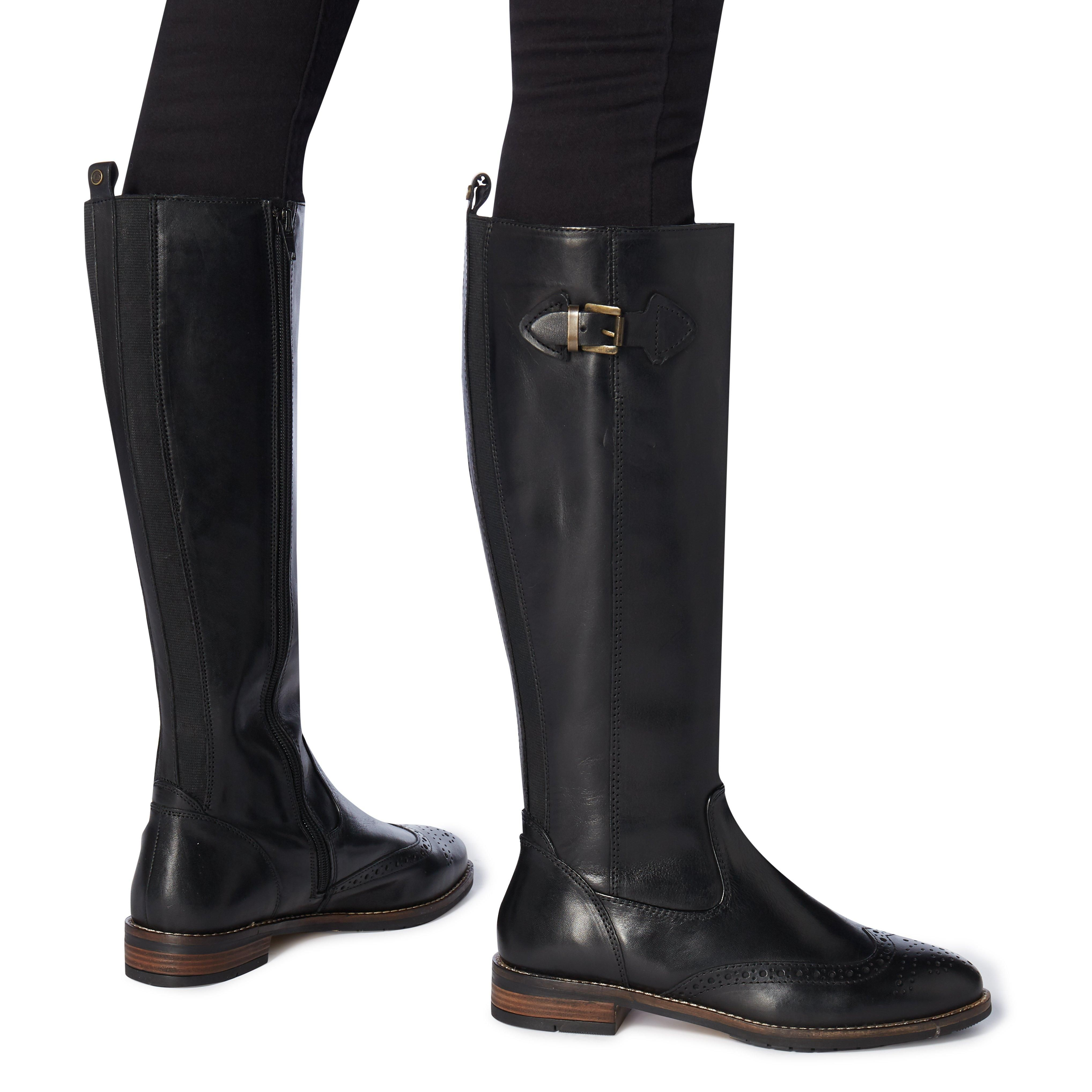 Dune Ladies TAYTUM Buckle Knee High Riding Boots