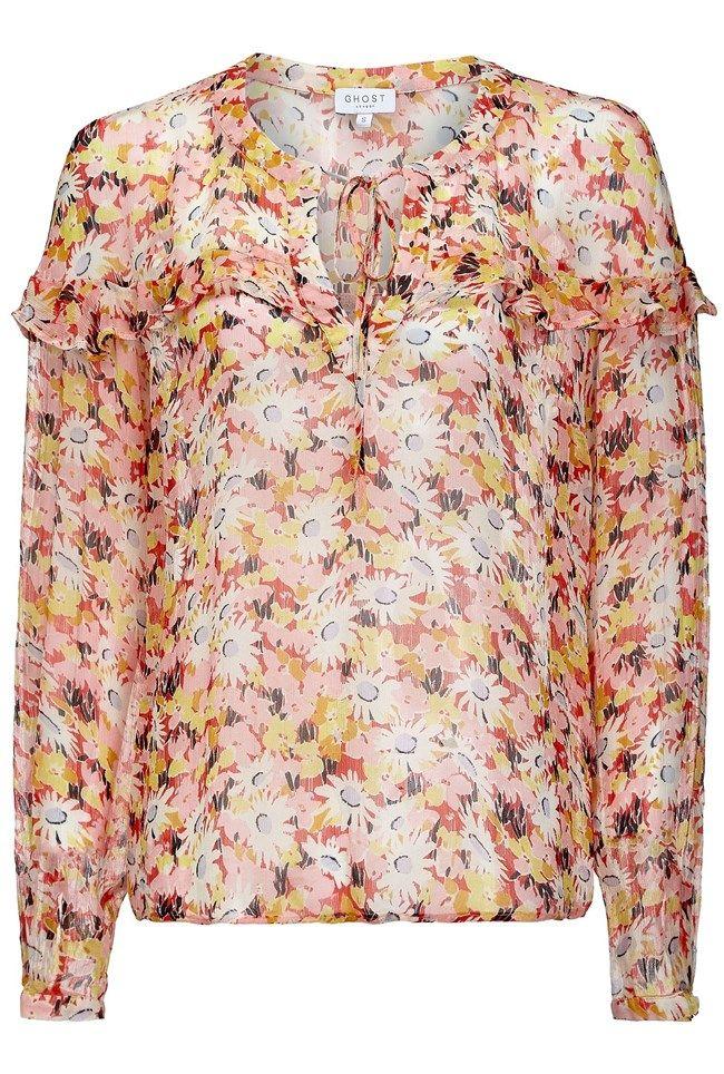 Bette Retro Floral Print Blouse