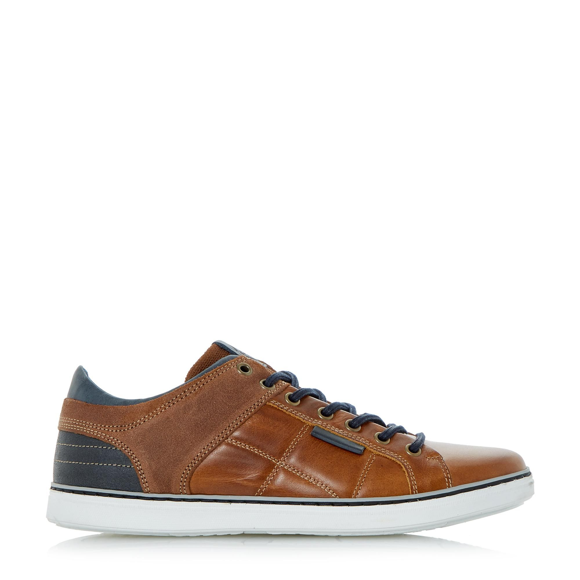 Dune Mens TOBEY Quilted Panel Trainers