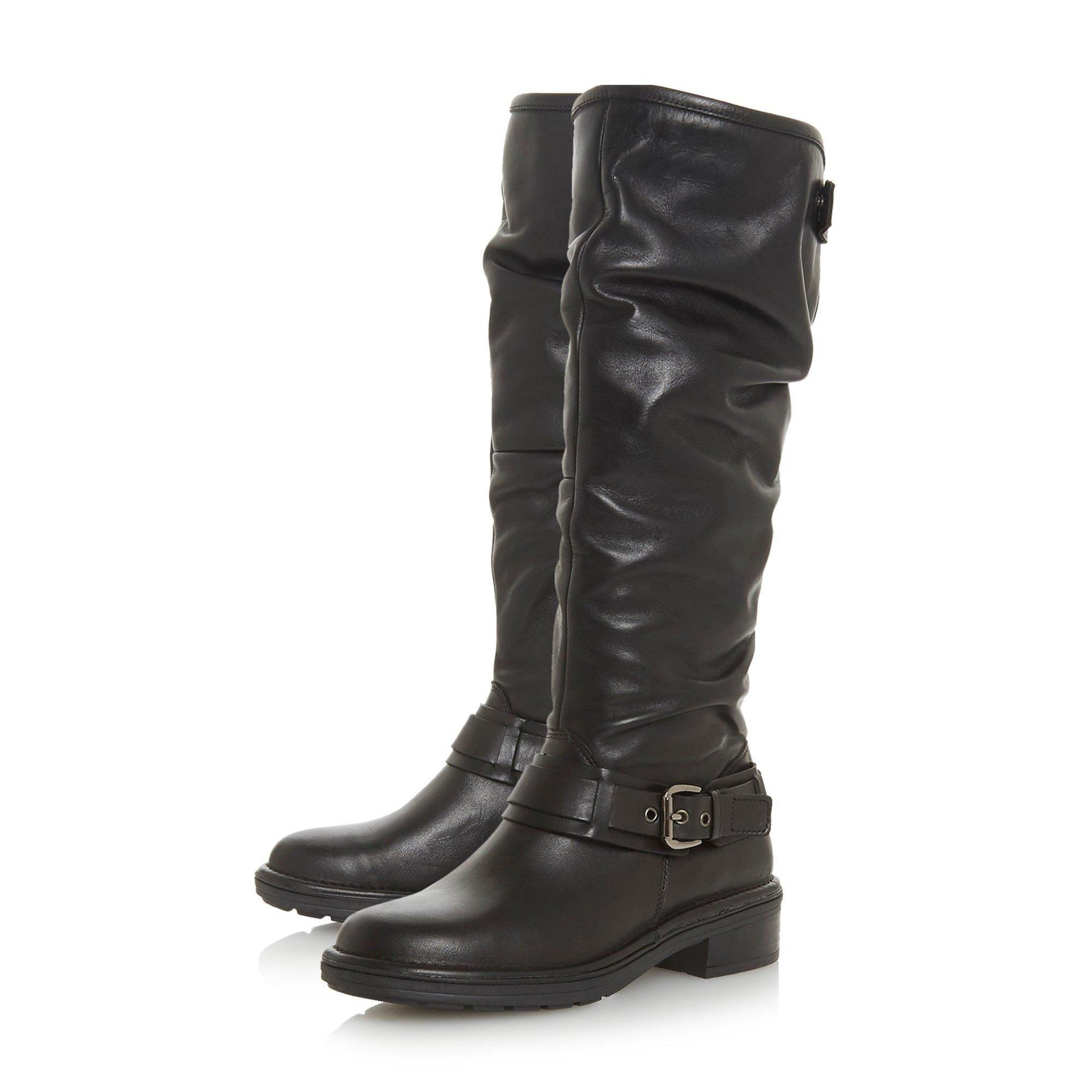 Dune Ladies TORLIE Ruched Knee High Boots
