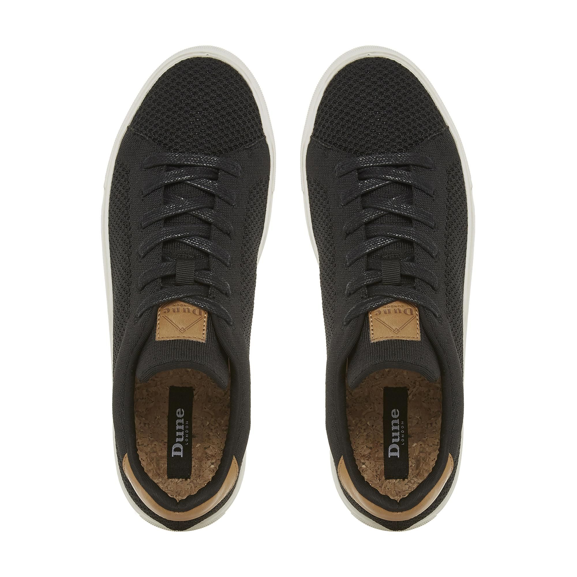Dune Mens TOURE Knitted Upper Lace-Up Trainers