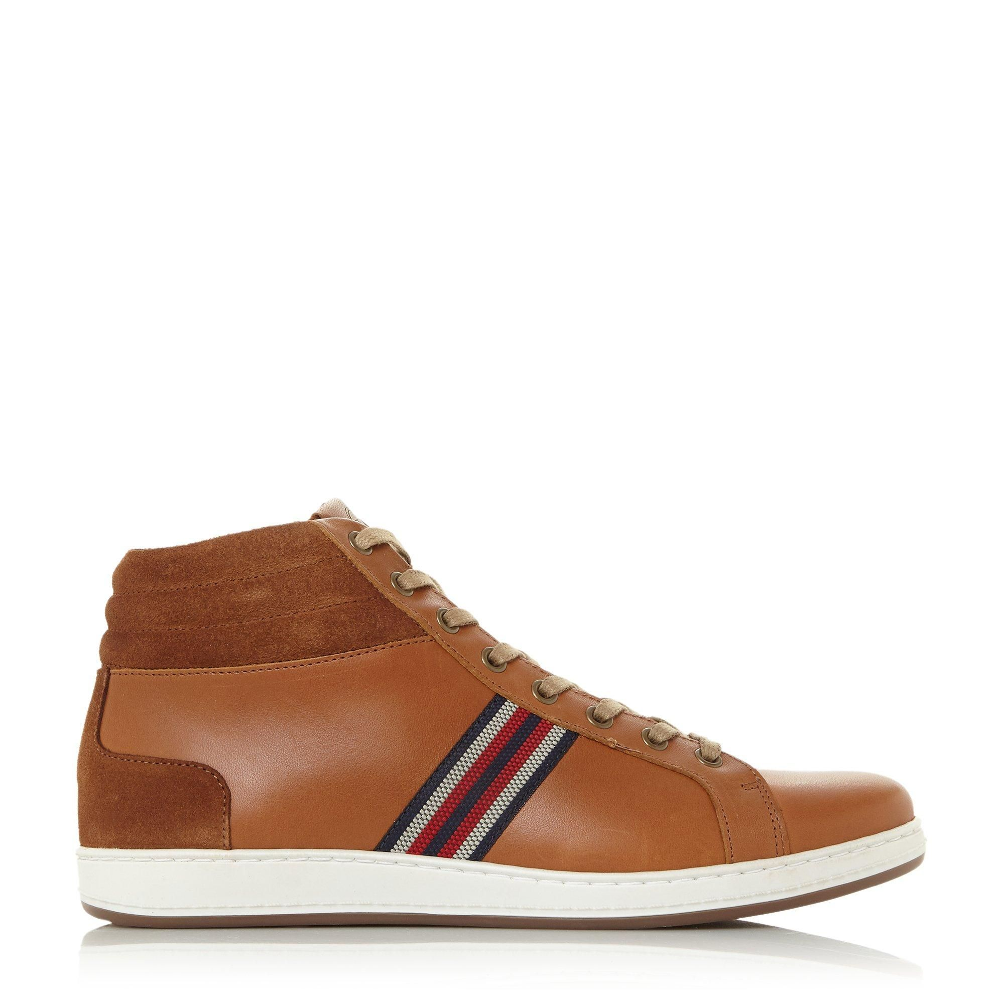 Dune Mens VANCOUVER Textured Panel High Top Trainers