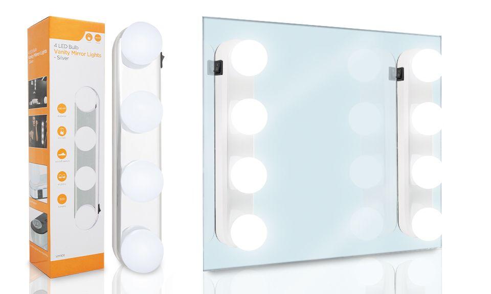 Haven 4 Led Bulb Vanity Mirror Lights - White