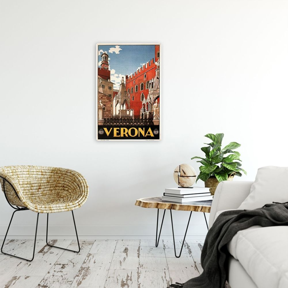 Vintage Tourist Poster - Metal Print  - Verona
