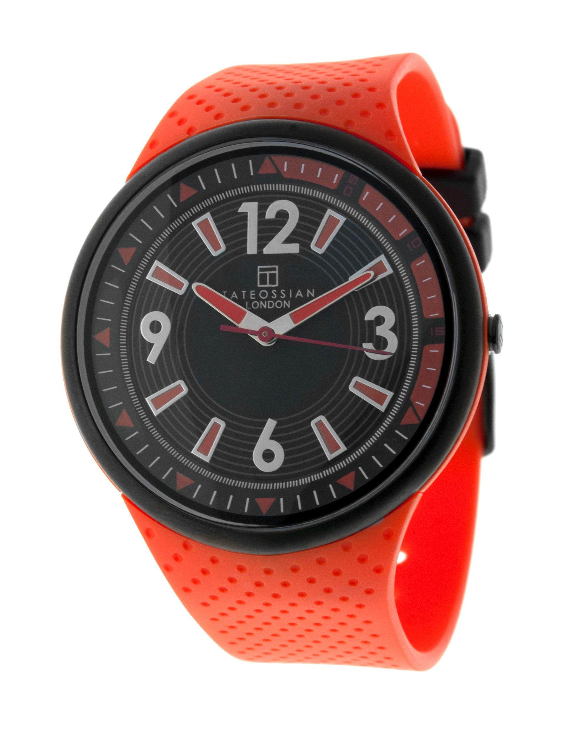 Stainl Steel  Rubber PU  Orange  2035 Japan movement 10ATM   Racing Time