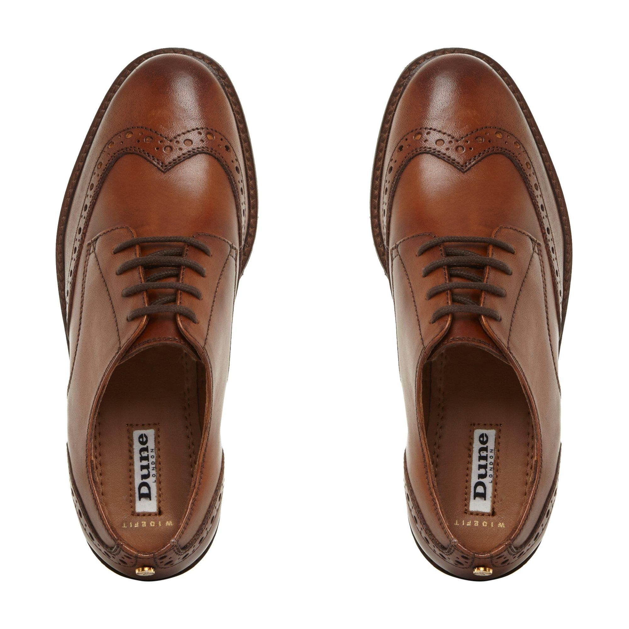 Dune Ladies WF FION  Wide Fit Lace Up Brogue