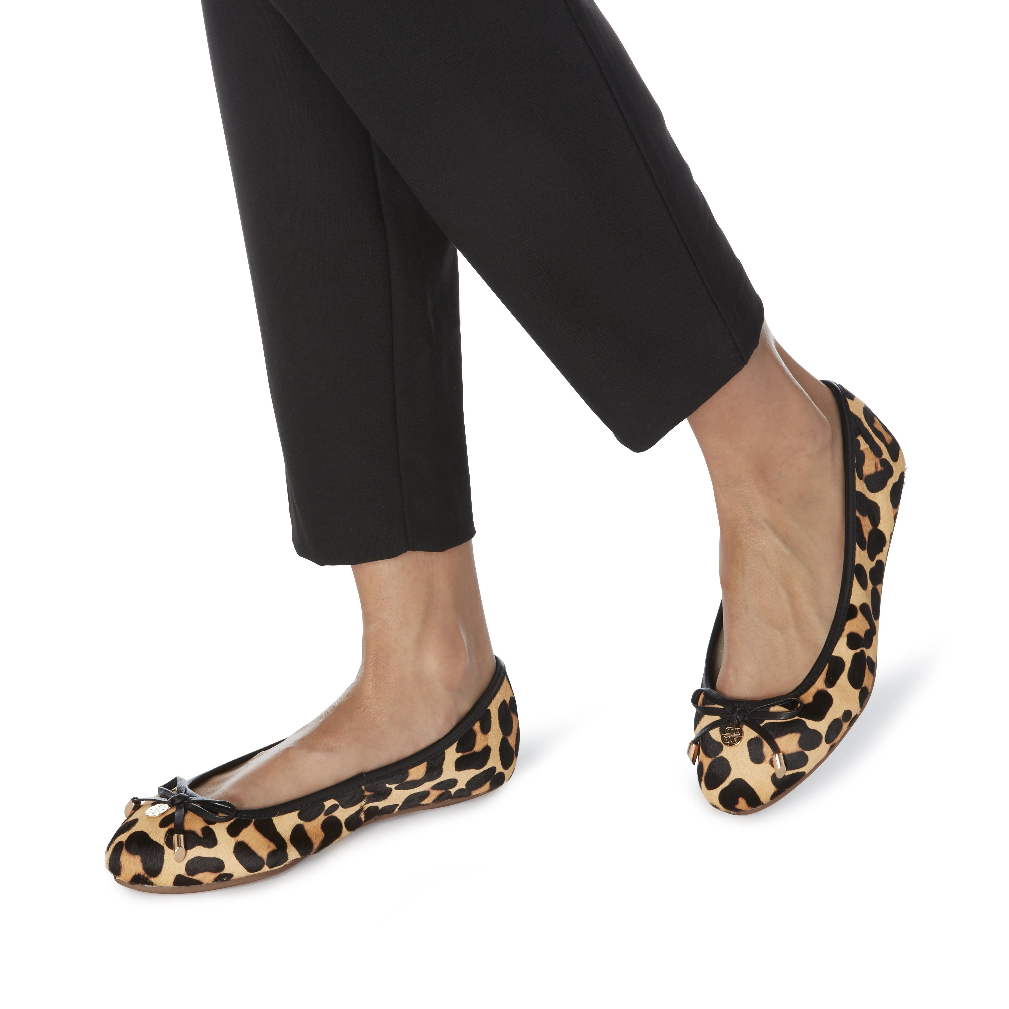 Dune Ladies W HYPE Wide Fit Bow And Coin Trim Ballerina Shoes