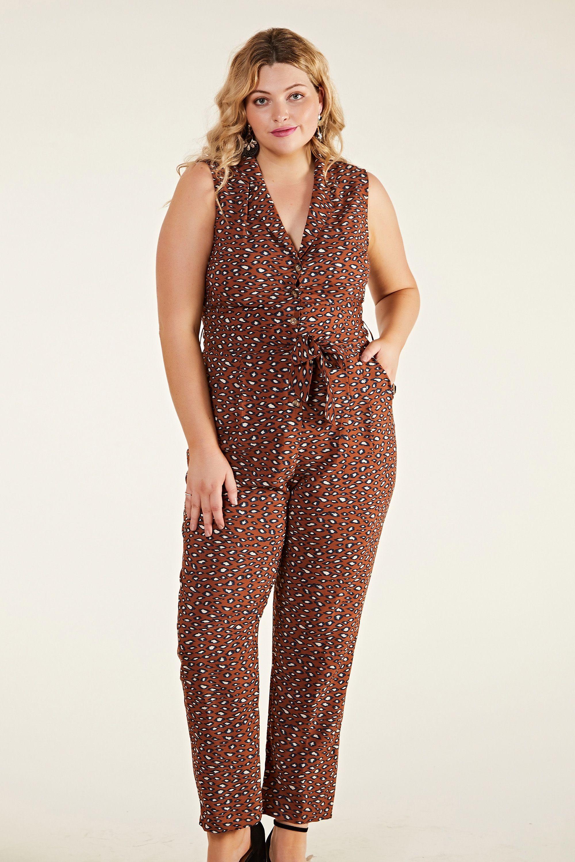 Animal Blotch Print Jumpsuit