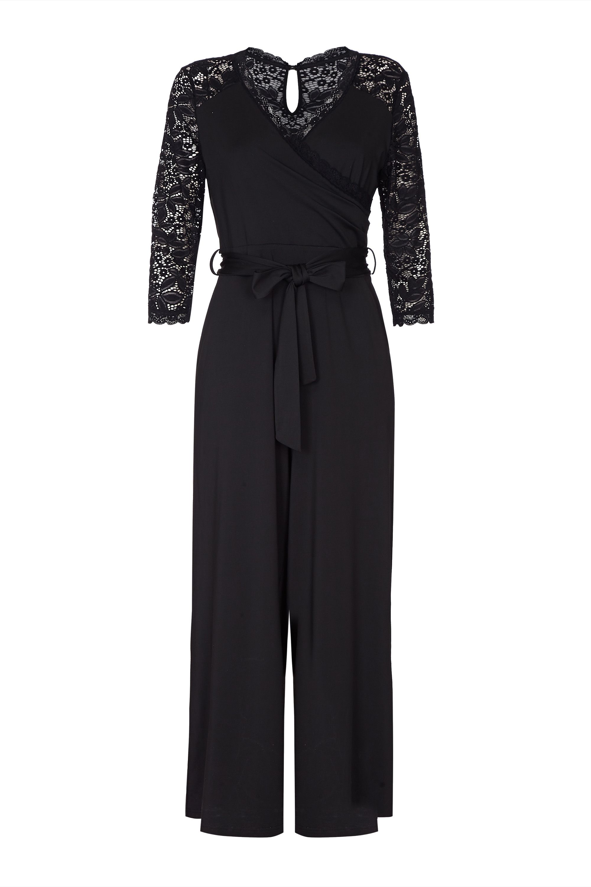 Lace And Jersey Jumpsuit