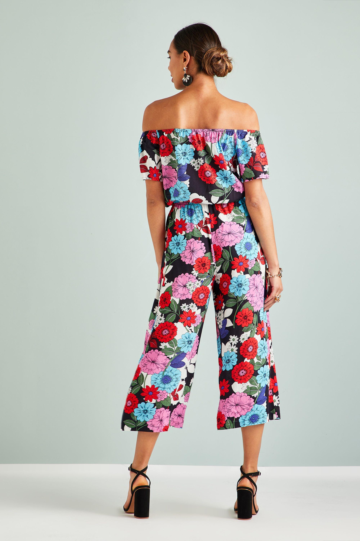 Sixties Flower Jumpsuit
