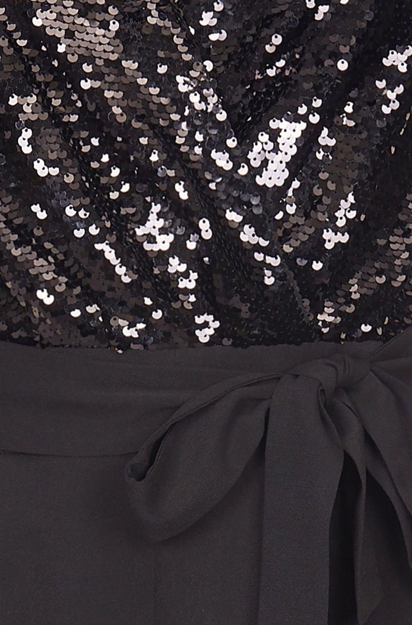 Sequin Wrap Over Jumpsuit