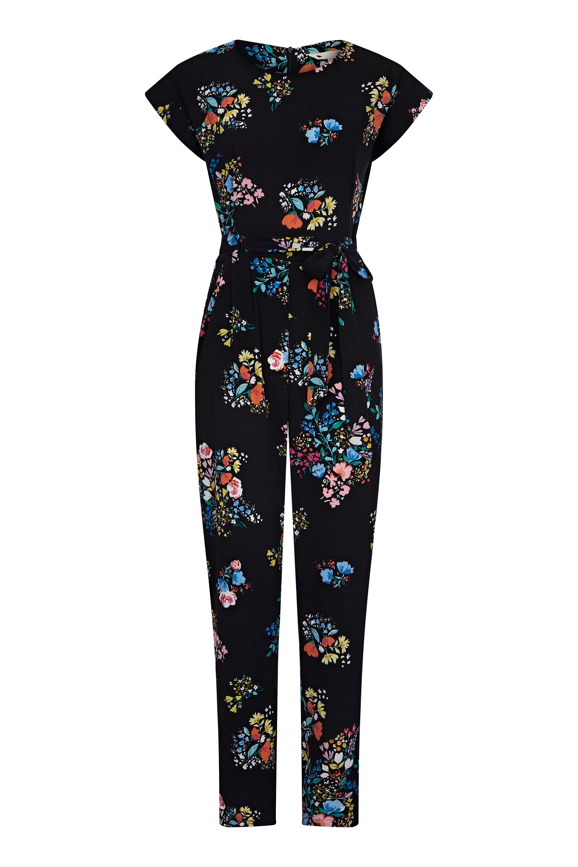 Spring Time Floral Print Jumpsuit