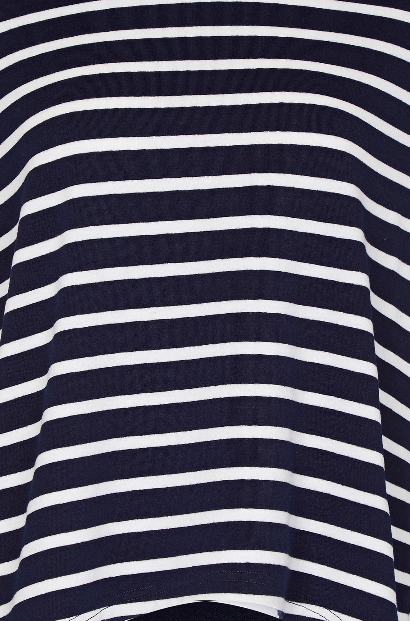 Stripe Top With Button Detail