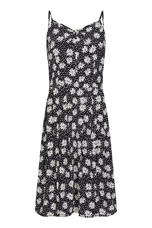 Daisy Print Tie Front Sundress