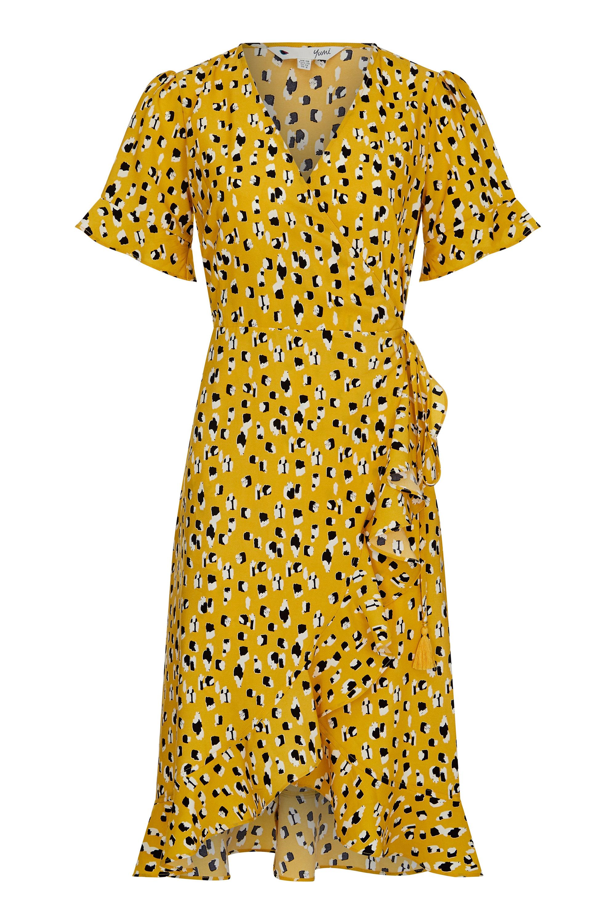 Animal Dash Print Wrap Dress